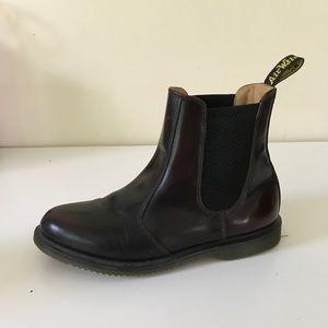 Doc Martens Chelsea boots burgundy size 9